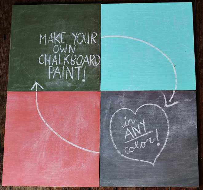 photo of colored chalkboard paint